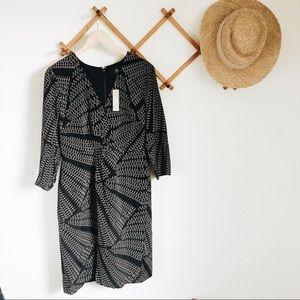 J. Crew silk twist-front dress in Kaleidoscopic